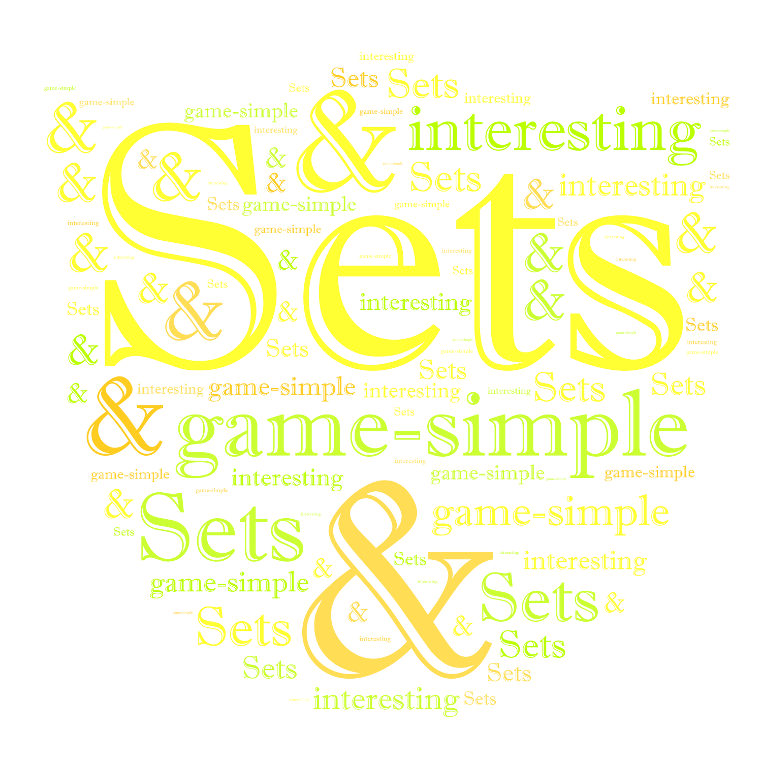 Sets game-simple & interesting