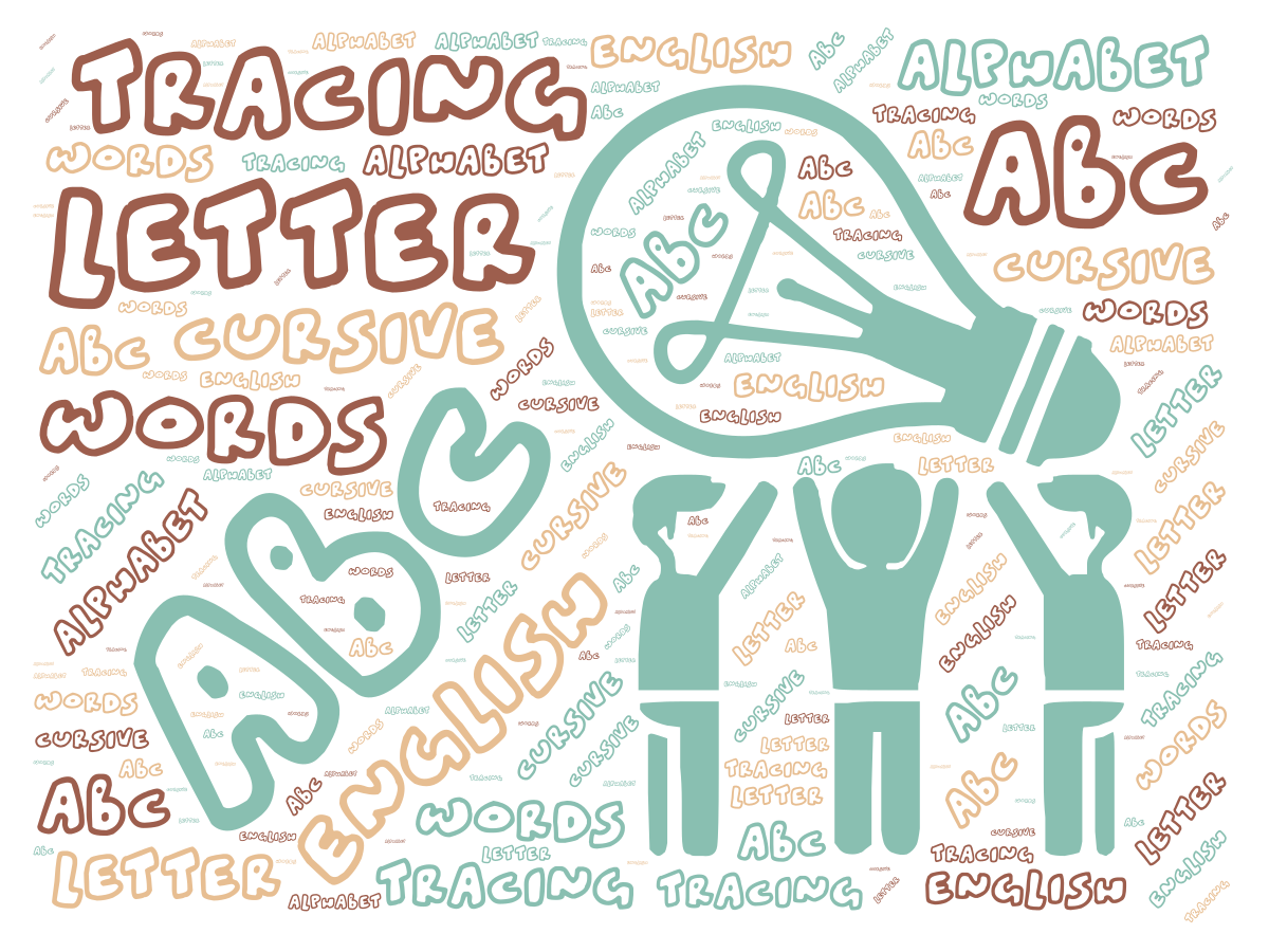 ABC Tracing Letter English Cursive Alphabet Words