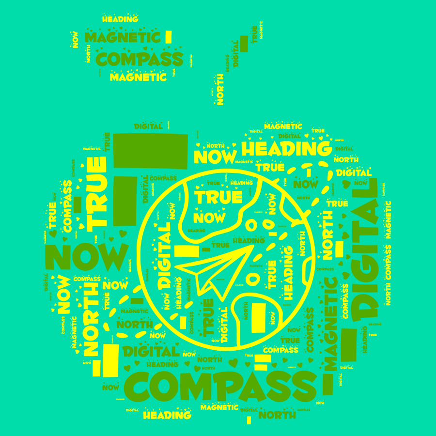 Compass Now - Digital Magnetic True North Heading