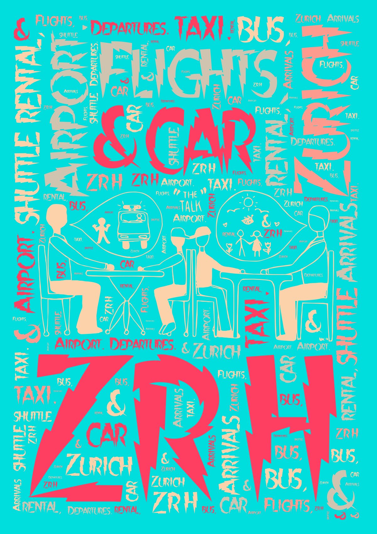 Zurich ZRH Airport. Flights, car rental, shuttle bus, taxi. Arrivals & Departures.
